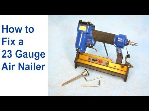 How to Fix an Air Nailer - 23 Gauge Pinner (Pneumatic Nailer Repair)