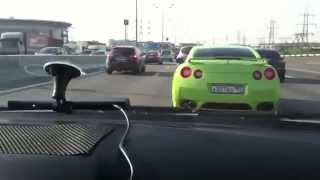 Погоня ГАИ за Nissan  Мажоры гоняют понты перед тёлками(Погоня ГАИ за Nissan GTR! Разборки на дорогах России происходят ежедневно! Они не находят мирный путь, они лезут..., 2014-09-03T10:37:29.000Z)