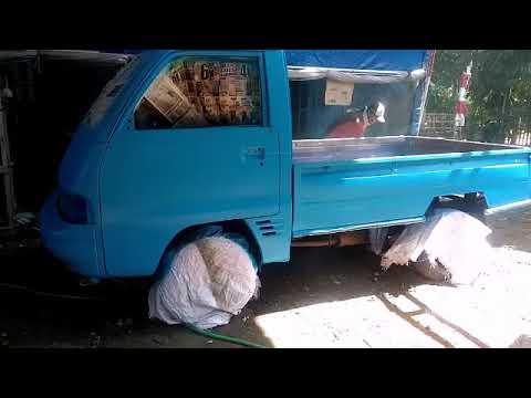 Proses pengecatan carry pickup biru oreo part 2