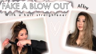 HOW TO: Fake a Blowout Using a Hair Straightener