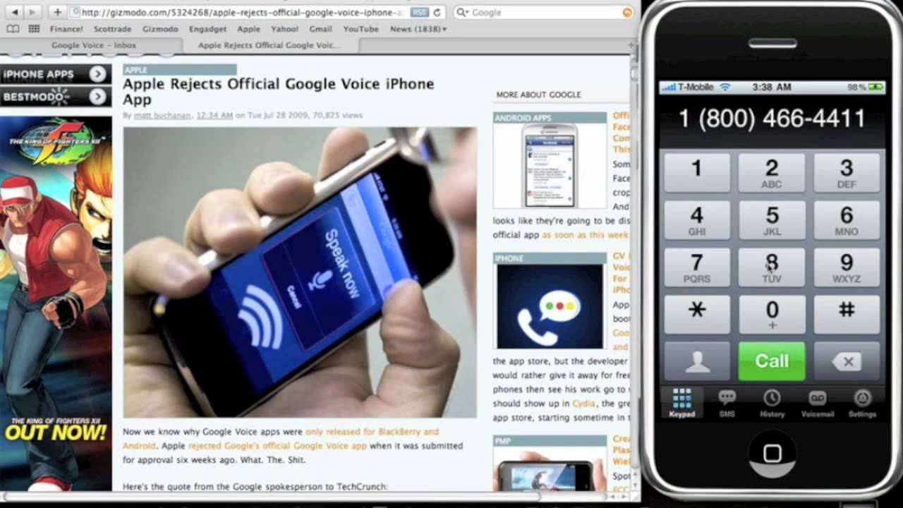 google voice iphone how to make amp receive free calls w voice on iphone 3466