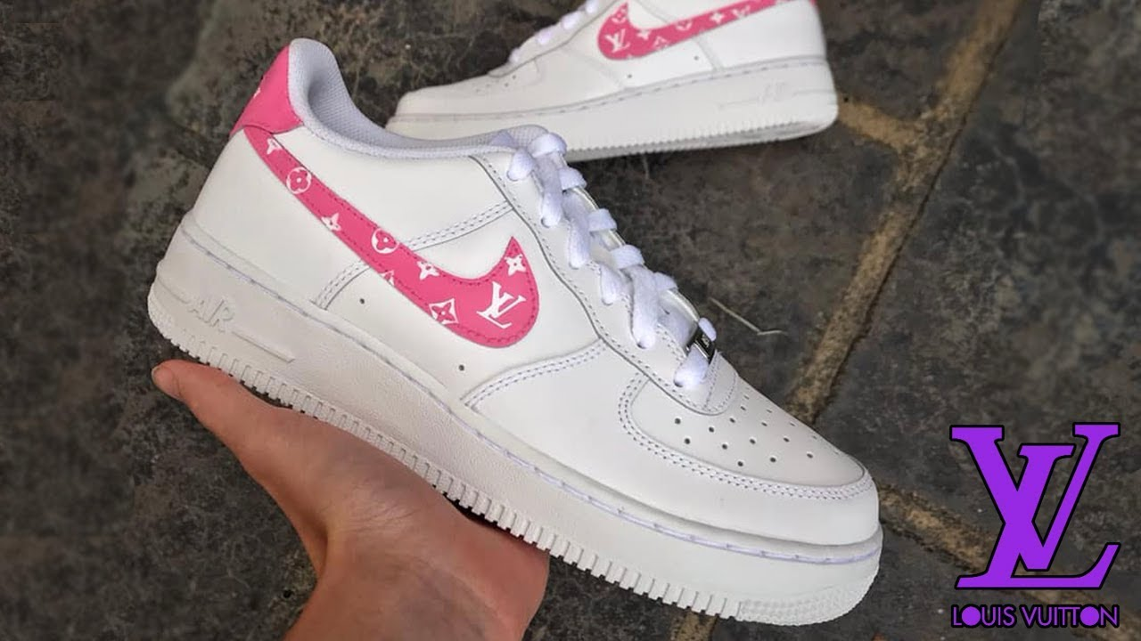 Custom Lv Nike Air Force 1s Louis Vuitton Shoes By Khameleon