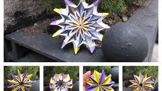 Origami Fireworks - Magic Morphing Toy - How To Fold Paper Flower Fireworks