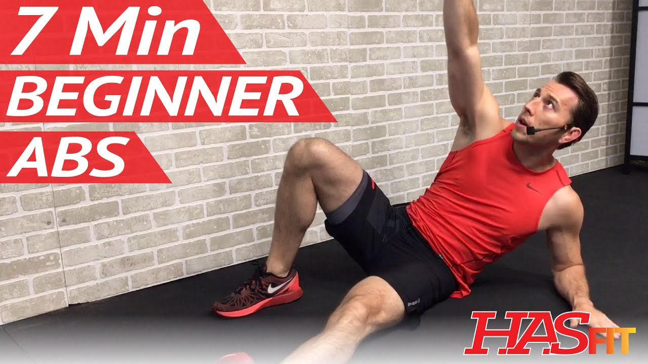 7 Min Beginner Ab Workout For Women Men