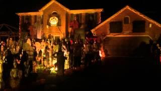 Halloween Light Show 2014, Eminem, Till I Collapse, Thomas Halloween 2014 Naperville