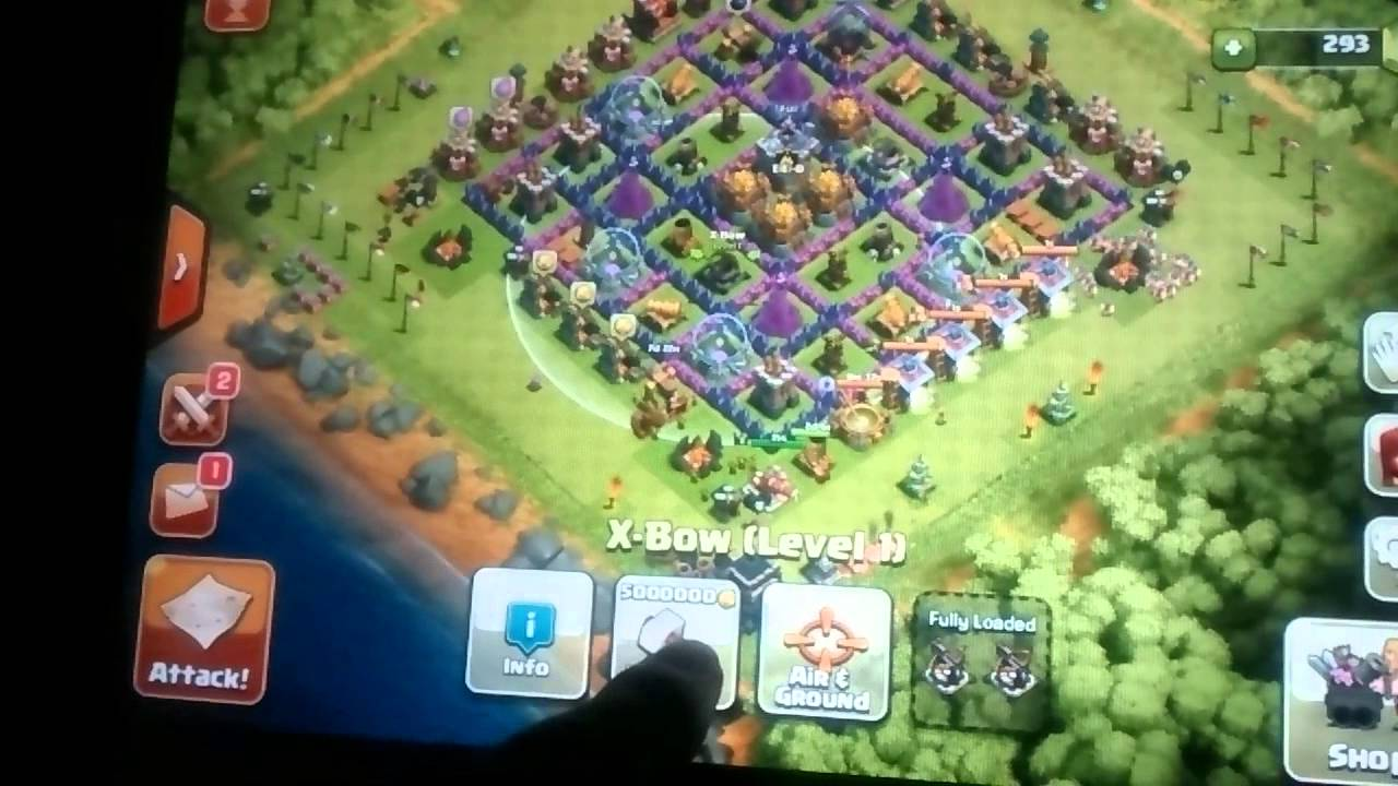 X Bow Clash Of Clans Upgrading x-bow...