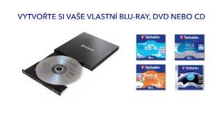 Externí Blu-ray Slimline vypalovačka Verbatim s USB 3.0