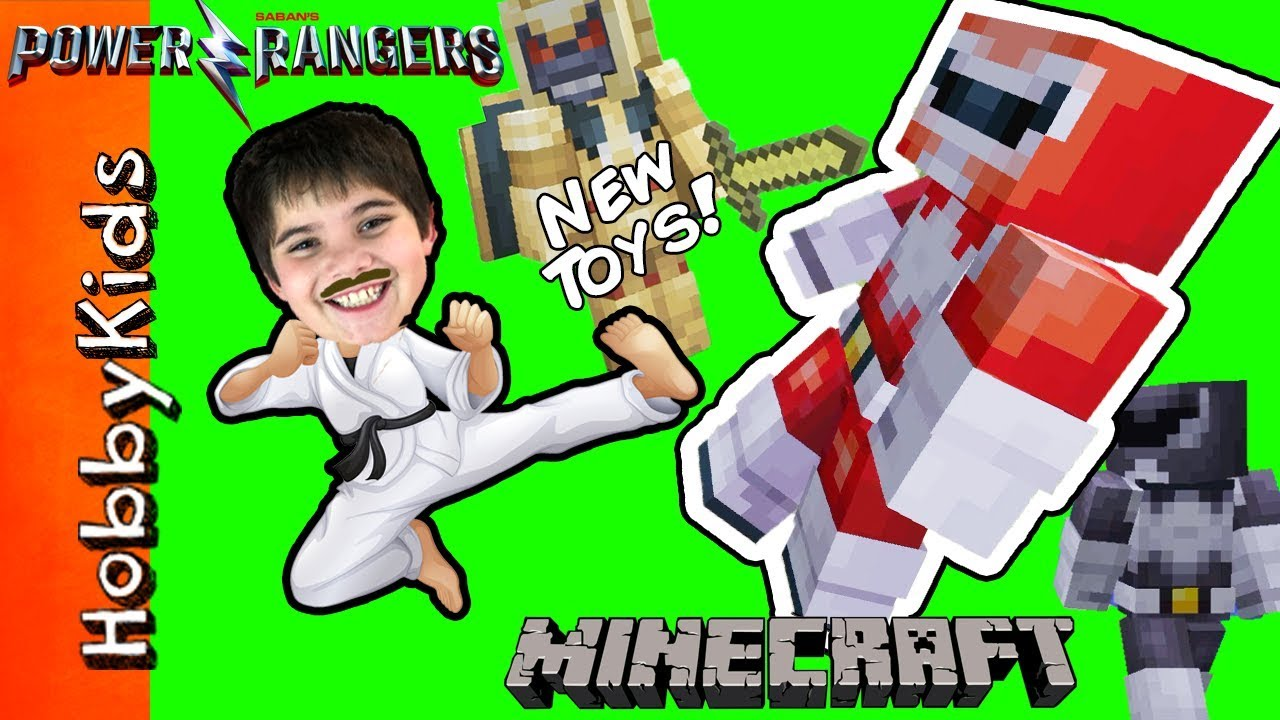 NEW POWER RANGER MOVIE TOYS! Minecraft Power Rangers Attack HobbyKarate + Surprise Toys ...