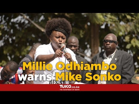 Millie Odhiambo warns Mike Sonko