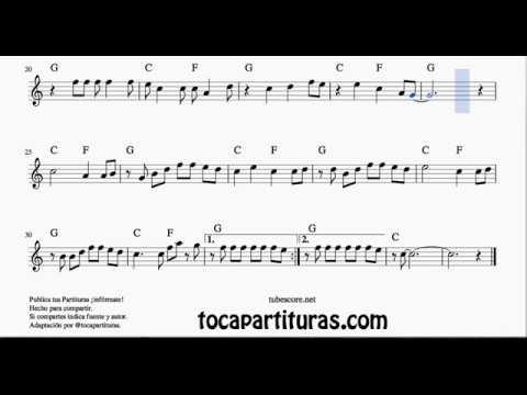 La Bamba Sheet Music for Oboe