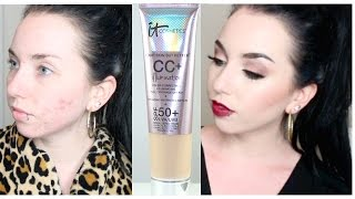 Get Ready with Me | IT Cosmetics Illuminating CC Cream  [ Dewy Skin Acne Coverage ]
