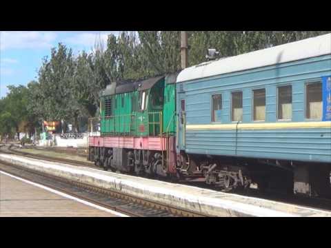 Феодосия. Пригородное сообщение в Крыму. Поезд Феодосия - Армянск.