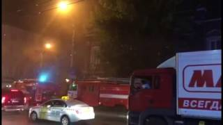 Горит здание полиции в Саратове