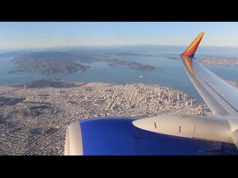 Southwest Flight WN 6066 (OAK-LGB) Takeoff from Oakland (N772SW)