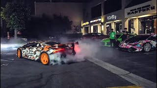 LAMBORGHINI DESTROYS PARKING LOT FOR BLACK CARD AT TATSU!
