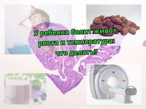 У ребенка болит живот рвота и температура