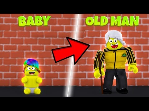 GROWING UP AND BECOMING AN OLD MAN *OLDEST* Roblox Growing Up)
