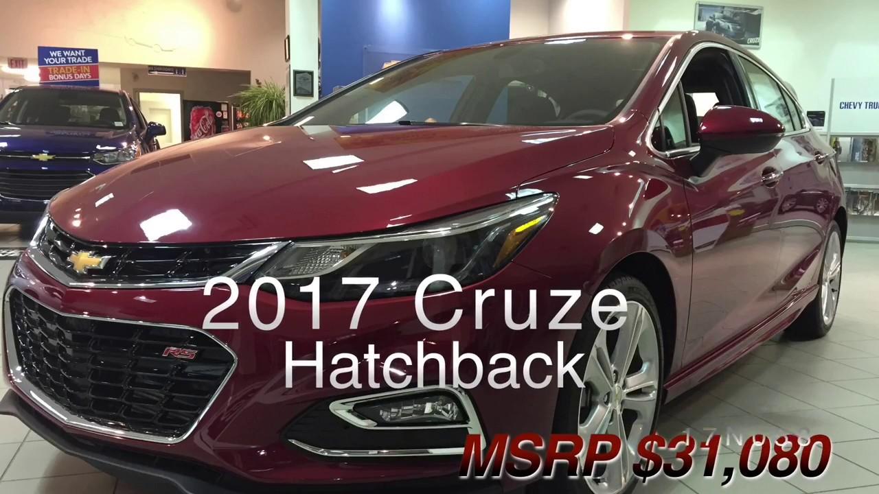 New 2017 Chevrolet Cruze Hatchback For Sale Premier Red Fwd 17n058