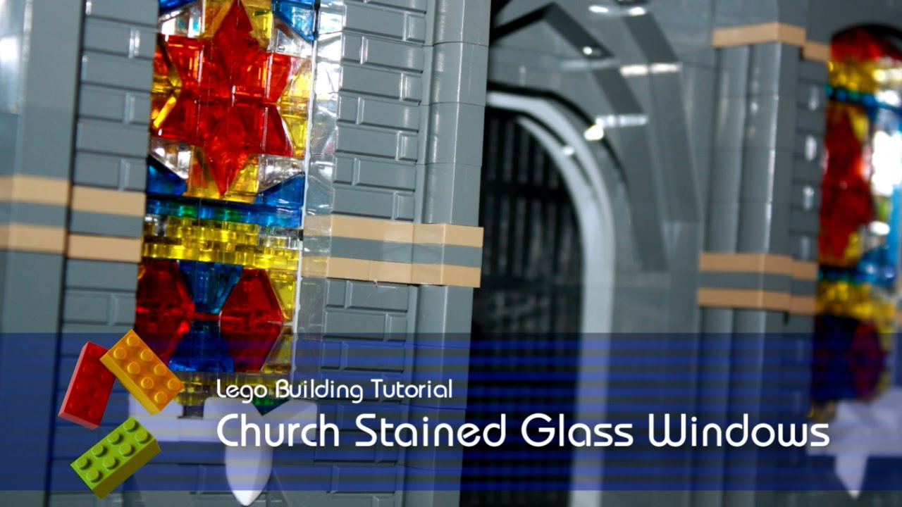 Lego Tutorial Church Stained Glass Windows Youtube