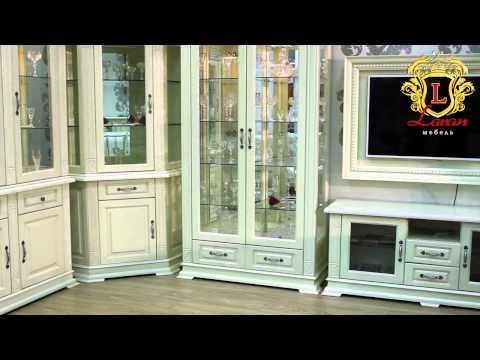 """Гостиная """"Верди Люкс"""" - мебель из массива дуба, без ДСП. Видеообзор."""