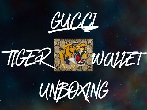 1f8a3020ebdc 450$ GUCCI TIGER WALLET UNBOXING!! - YouTube