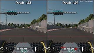 Gran Turismo Sport - Mercedes-AMG F1 W08 EQ Power+ 2017 - Patch 1.23 vs 1.24 Comparison