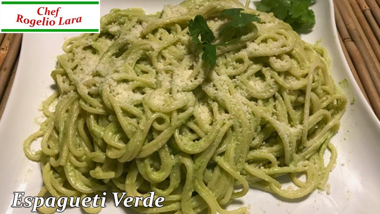 Espagueti Verdedeliciosa Receta