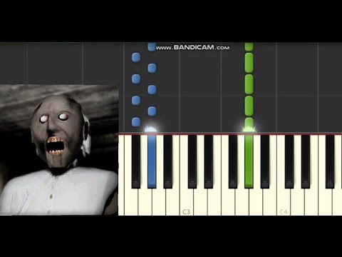 Granny Horror Game Music Soundtrack Piano Synthesia Tutorial  - Part 1