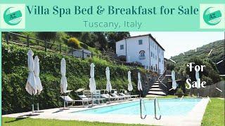 Villa Spa Bed & Breakfast for Sale Tuscany | AZ Italian Properties | Villa for Sale Pisa | Spa