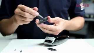 Moser Professional: Уход за машинкой для стрижки волос видео урок(Видео-урок Уход за машинкой для стрижки волос Moser Professional Интернет-магазин, Учебный центр Сибирский цирюльн..., 2015-03-18T05:25:28.000Z)