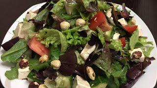 Микс салат 🥗 с сыром фетакса