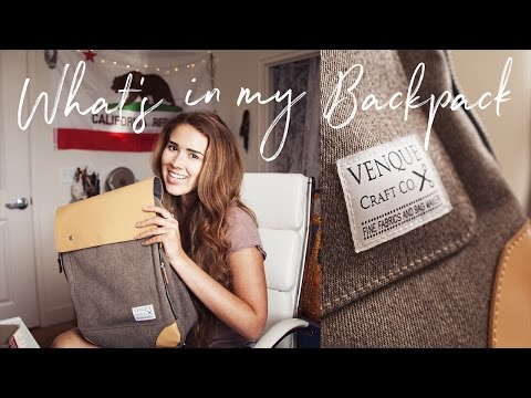 What's In My Backpack College 2017   Graphic Designer