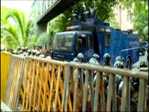 Tear gas and high-pressure water cannons used on protesters