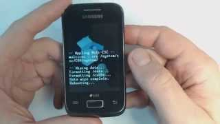Samsung Galaxy Y Duos S6102 - How to remove pattern lock by hard reset
