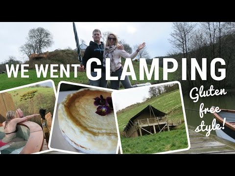GLAMPING AT LONGLANDS IN NORTH DEVON | Gluten free CHEESECAKE!