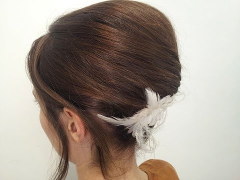 peinado recogido elegante de fiesta con volumen