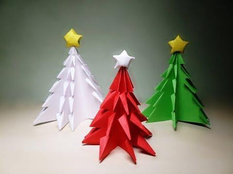 Albero Di Natale Origami.Decorazioni Fai Da Te Alberi Di Natale Origami Youtube