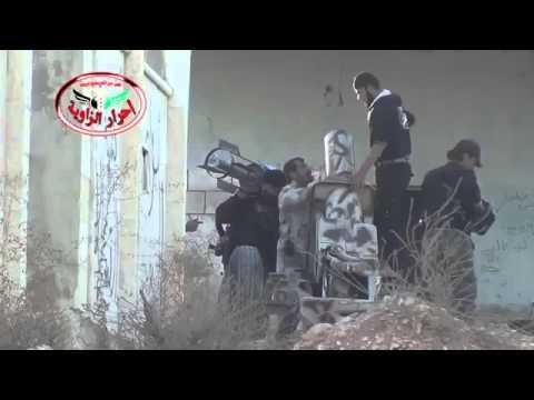 18+ Syria Rebels Advance on Assad Checkpoint in Maarat al Numan Area 10-10-13