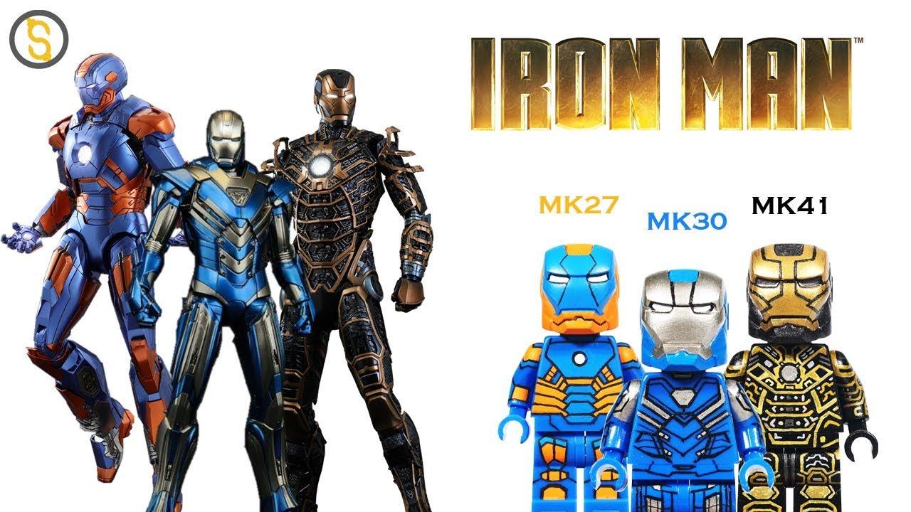 **NEW** MAX BRICK Custom Iron Man Mark 30 Lego Minifigure