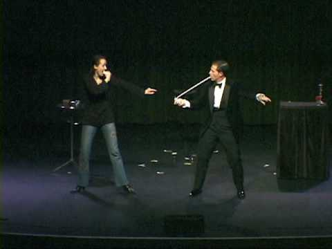 Magician Peter Morrison Stage Magic Demo 2010
