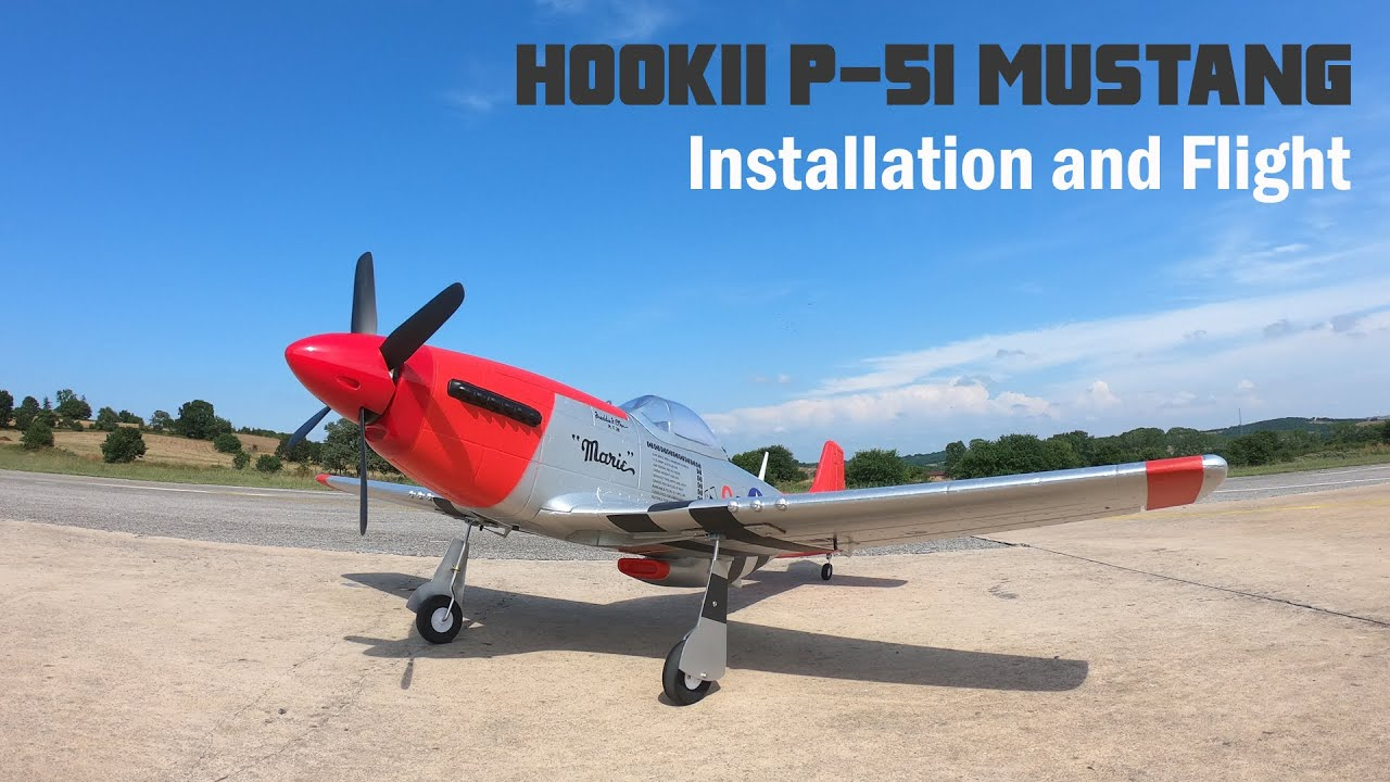 120CM P-51 Mustang RC Airplane Assembly And Test Flight