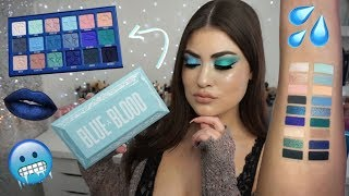 BLUE BLOOD Palette & Collection 💙REVIEW & SWATCHES! Jeffree Star Cosmetics