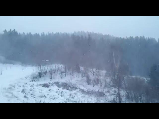 Schneesturm in Unterweißenbach