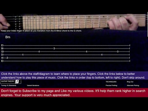 Guitar 3 Doors Down Kryptonite How to play 1st & 2nd verse tutorial lesson cover beginner