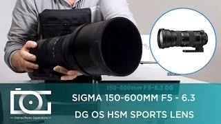 UNBOXING REVIEW | SIGMA 150-600mm F5-6.3 DG OS HSM (S) SPORT LENS FOR CANON & NIKON EF CAMERAS
