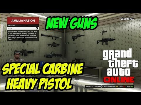 GTA Online Special Carbine And Heavy Pistol Guns FREE Business Pack DLC
