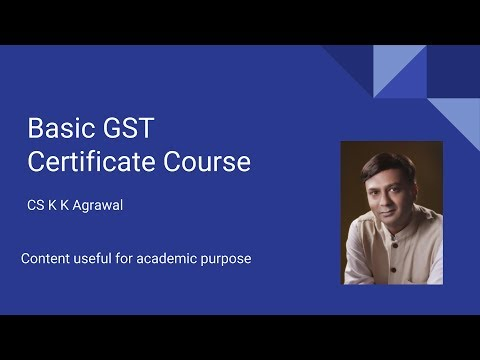 Basic GST Certificate Course