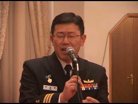 Южно-корейский капитан исполняет армянскую песню