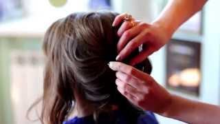 видео как собрать красиво волосы