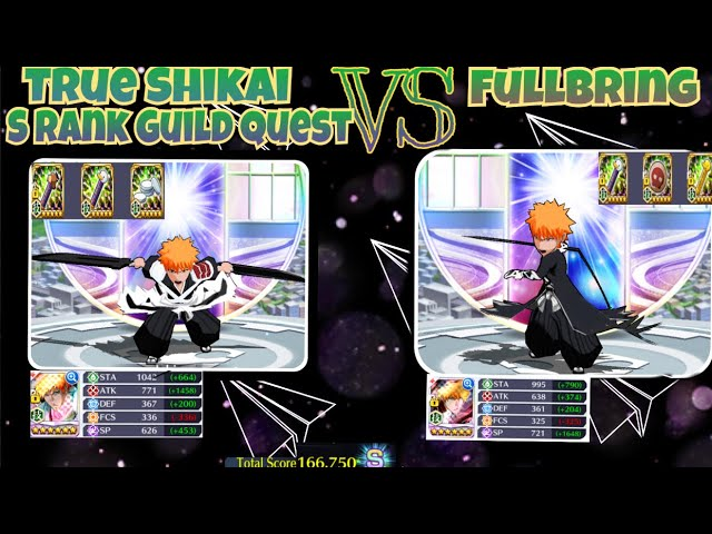 True Shikai Vs FullBring S Rank Guild Quest, Who is Better? |Bleach Brave Souls
